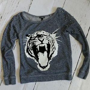 Express Tiger Studded Sweatshirt Size XS